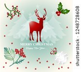 merry christmas and happy new... | Shutterstock .eps vector #1248728608