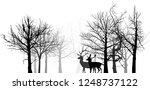 illustration with deer... | Shutterstock .eps vector #1248737122