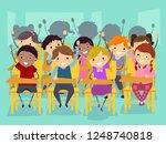 illustration of stickman kids... | Shutterstock .eps vector #1248740818