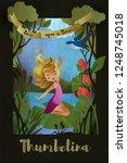 thumbelina  faity tale... | Shutterstock .eps vector #1248745018