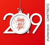 2019 happy new year celebrate... | Shutterstock .eps vector #1248758272