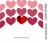 different shades  hearts  for... | Shutterstock .eps vector #1248759985