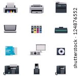 vector office electronics icon... | Shutterstock .eps vector #124876552