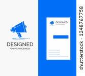business logo for bullhorn ... | Shutterstock .eps vector #1248767758