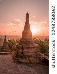 old city ruins of bagan myanmar ... | Shutterstock . vector #1248788062