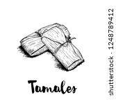 hand drawn sketch style... | Shutterstock .eps vector #1248789412
