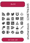vector icons pack of 25 filled... | Shutterstock .eps vector #1248796345