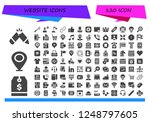 vector icons pack of 120 filled ... | Shutterstock .eps vector #1248797605