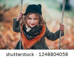 very stylish little girl in a... | Shutterstock . vector #1248804058