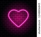 neon heart. bright night neon... | Shutterstock .eps vector #1248806845
