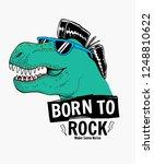 tyrannosaurus rex with... | Shutterstock .eps vector #1248810622