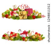 vector christmas concept with... | Shutterstock .eps vector #1248811312