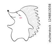 dancing hedgehog baby print.... | Shutterstock .eps vector #1248813058