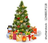 vector christmas pine tree with ... | Shutterstock .eps vector #1248819118