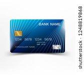 blue modern credit card design. ... | Shutterstock .eps vector #1248819868
