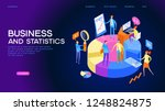 statistics and analysis in... | Shutterstock .eps vector #1248824875