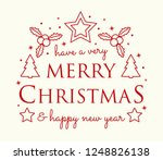 christmas calligraphy with... | Shutterstock .eps vector #1248826138