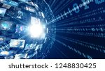 digital transformation concept. | Shutterstock . vector #1248830425