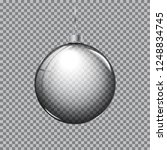 transparent christmas ball with ... | Shutterstock .eps vector #1248834745