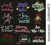 christmas and new year... | Shutterstock .eps vector #1248836875