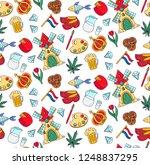holland netherlands doodle cute ... | Shutterstock .eps vector #1248837295