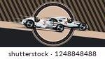 Vintage Racing. Vector...