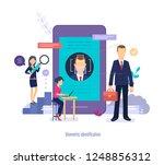 biometric identification. face... | Shutterstock .eps vector #1248856312