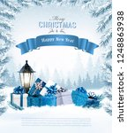 christmas holiday background... | Shutterstock .eps vector #1248863938