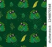 cute kids crocodile pattern for ... | Shutterstock .eps vector #1248870568