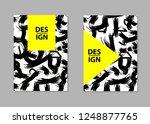 black brush strokes backgrounds.... | Shutterstock .eps vector #1248877765