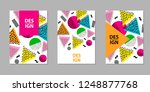 colorful geometric backgrounds. ... | Shutterstock .eps vector #1248877768