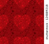 red valentine's day seamless... | Shutterstock . vector #124889218