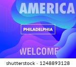 america city wallpaper. vector...   Shutterstock .eps vector #1248893128