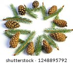 christmas decorations on a...   Shutterstock . vector #1248895792