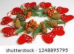 christmas decorations on a...   Shutterstock . vector #1248895795