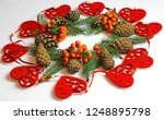 christmas decorations on a...   Shutterstock . vector #1248895798