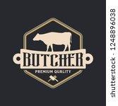 butcher logo vintage | Shutterstock .eps vector #1248896038