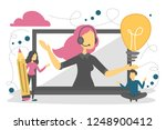 call service and customer... | Shutterstock .eps vector #1248900412