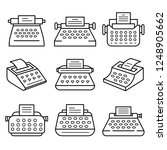 typewriter icon set. outline... | Shutterstock .eps vector #1248905662