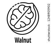 walnut icon. outline walnut... | Shutterstock .eps vector #1248905902