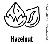 hazelnut icon. outline hazelnut ... | Shutterstock .eps vector #1248905932