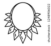 rich necklace icon. outline... | Shutterstock .eps vector #1248906022