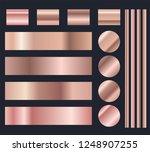 rose gold metal gradient vector ... | Shutterstock .eps vector #1248907255