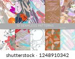 collection of seamless patterns.... | Shutterstock .eps vector #1248910342