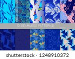 collection of seamless patterns.... | Shutterstock .eps vector #1248910372