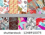 collection of seamless patterns.... | Shutterstock .eps vector #1248910375