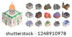 church icon set. isometric set... | Shutterstock .eps vector #1248910978