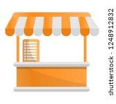 food tent kiosk icon. cartoon... | Shutterstock .eps vector #1248912832