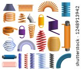 slinky coil icon set. cartoon... | Shutterstock .eps vector #1248913942