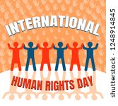 international human rights day... | Shutterstock .eps vector #1248914845